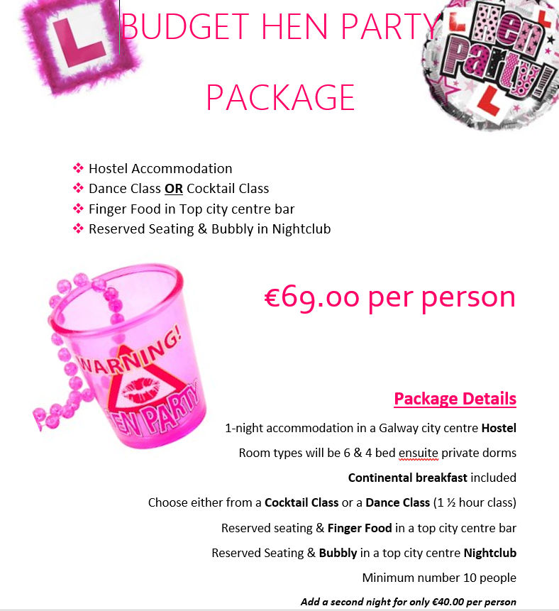 Budget Hen Party Galway
